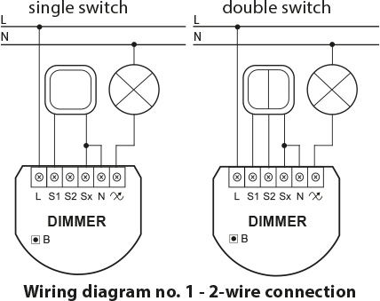 Trailing Edge Dimmer Wiring Diagram from manuals.fibaro.com