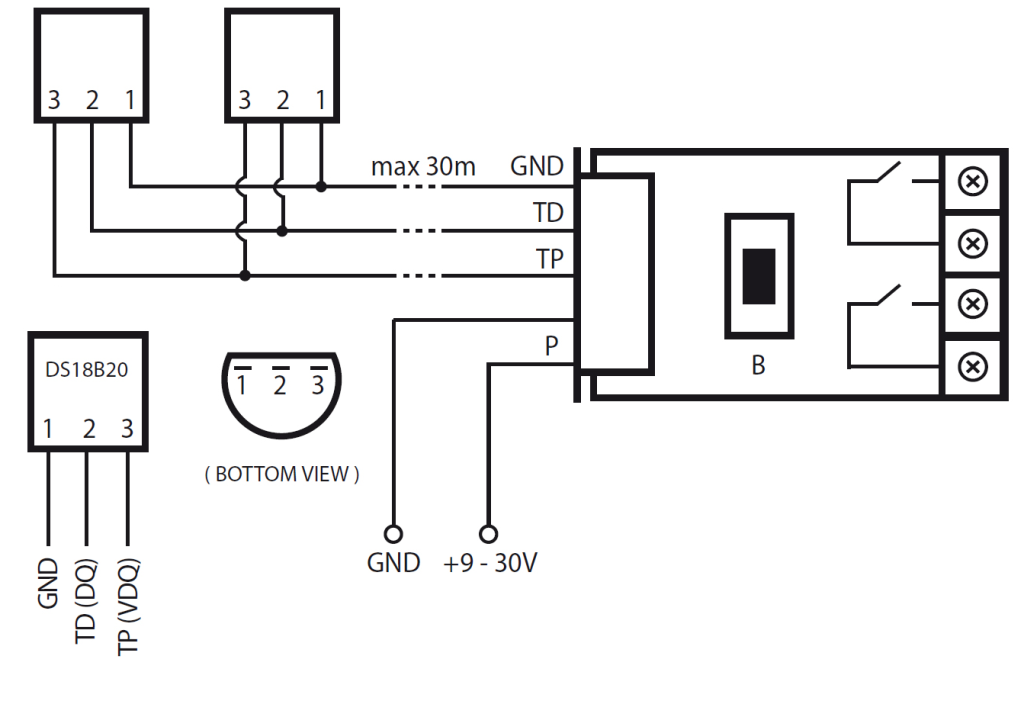 Binary Sensor on alarm system diagram