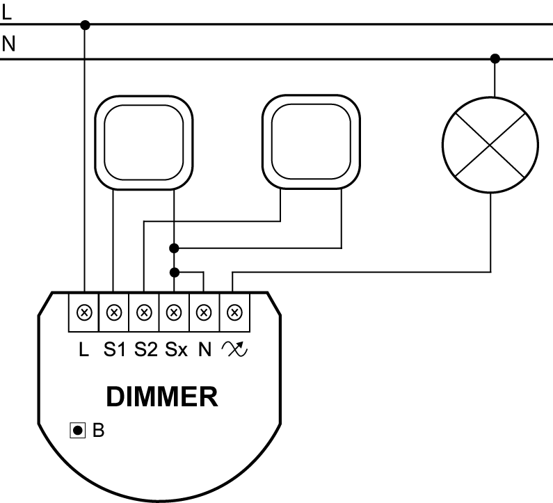 dimmer 2 light controller