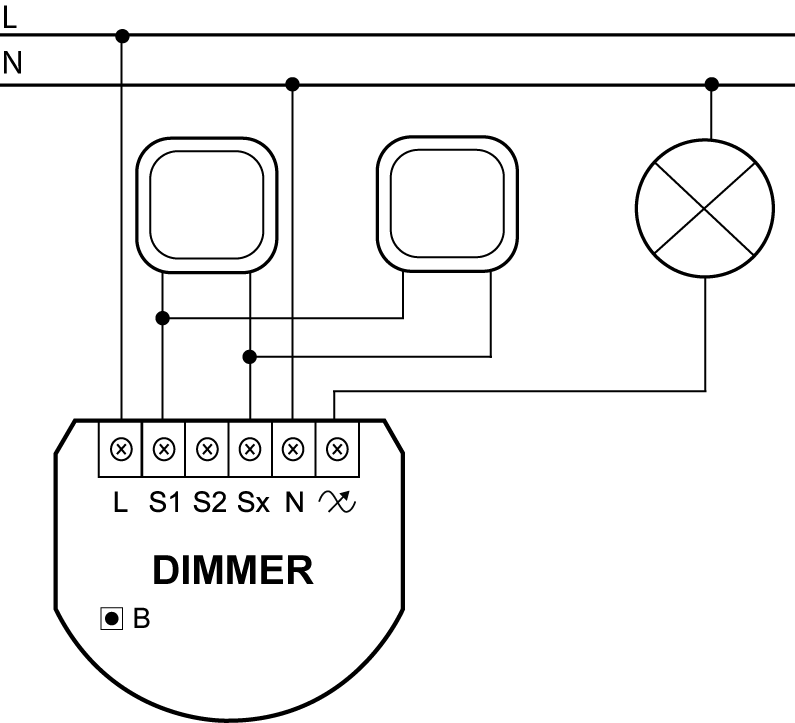 Dimmer 2 light controller | FIBARO Manuals on 3-way dimmer diagram, leviton 4 way switch diagram, dimmer switch installation diagram, leviton three-way diagram, four-way switch diagram, 4 way relay wiring diagram, 4 way dimmer switch installation, lutron 4-way switch diagram,