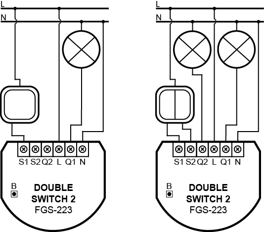 wiring diagrams – double switch 2
