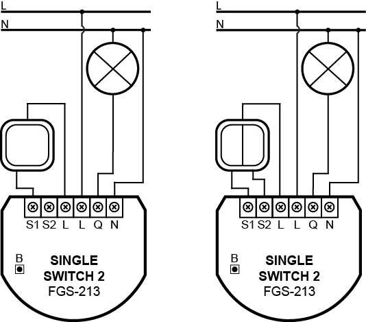 single switch diagrams