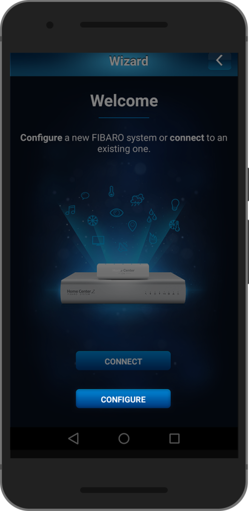 FIBARO Home Center 2 – Installation and first launch via