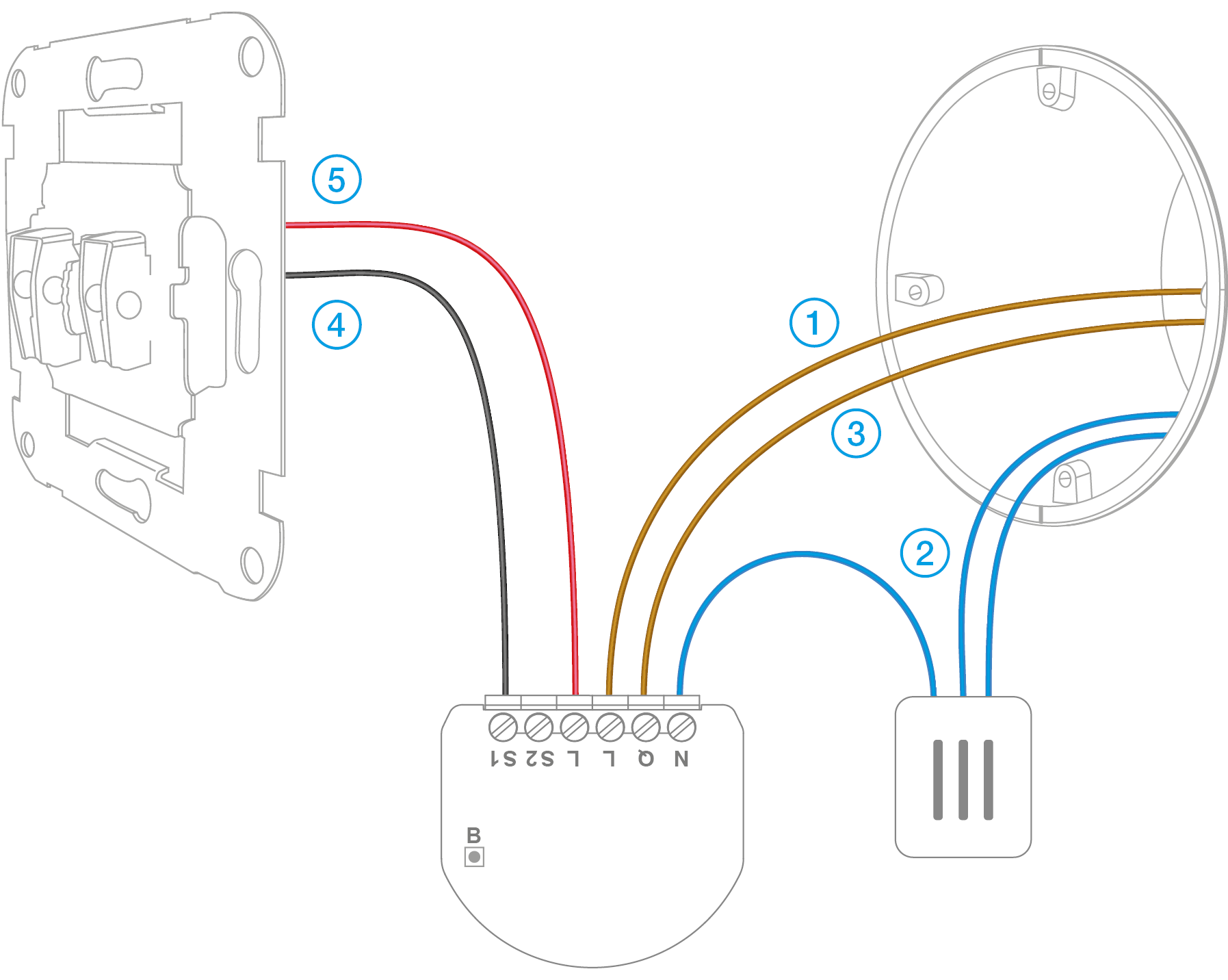 a map of wiring for 2005 jeep grand cherokee single switch (fgbhs-213) | fibaro manuals from a schematic diagram wiring for switches #4