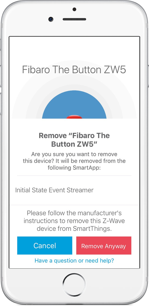 Removing FIBARO devices from SmartThings Classic | FIBARO