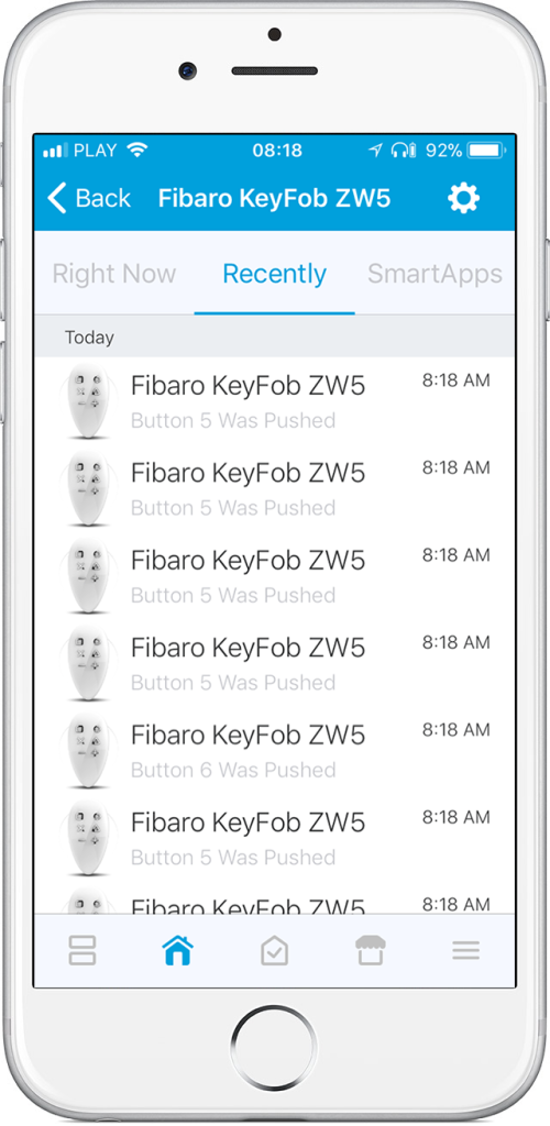 FIBARO devices in SmartThings Classic interface | FIBARO Manuals