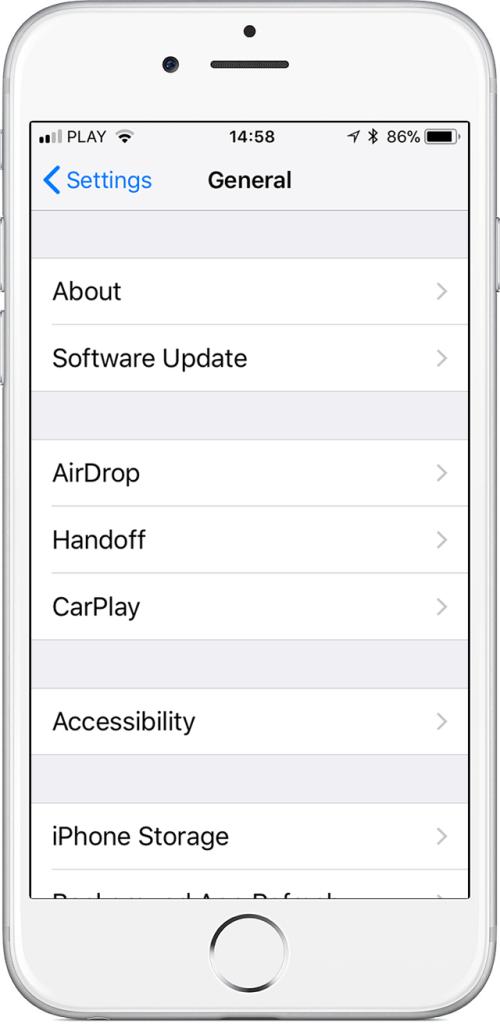 iOS smart doorbell app