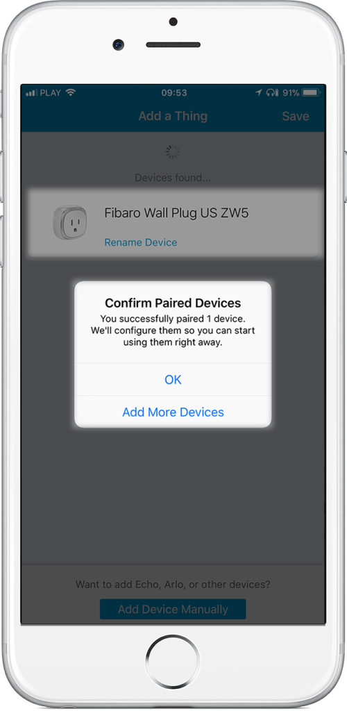 FIBARO Wall Plug US Device Handler Installation in