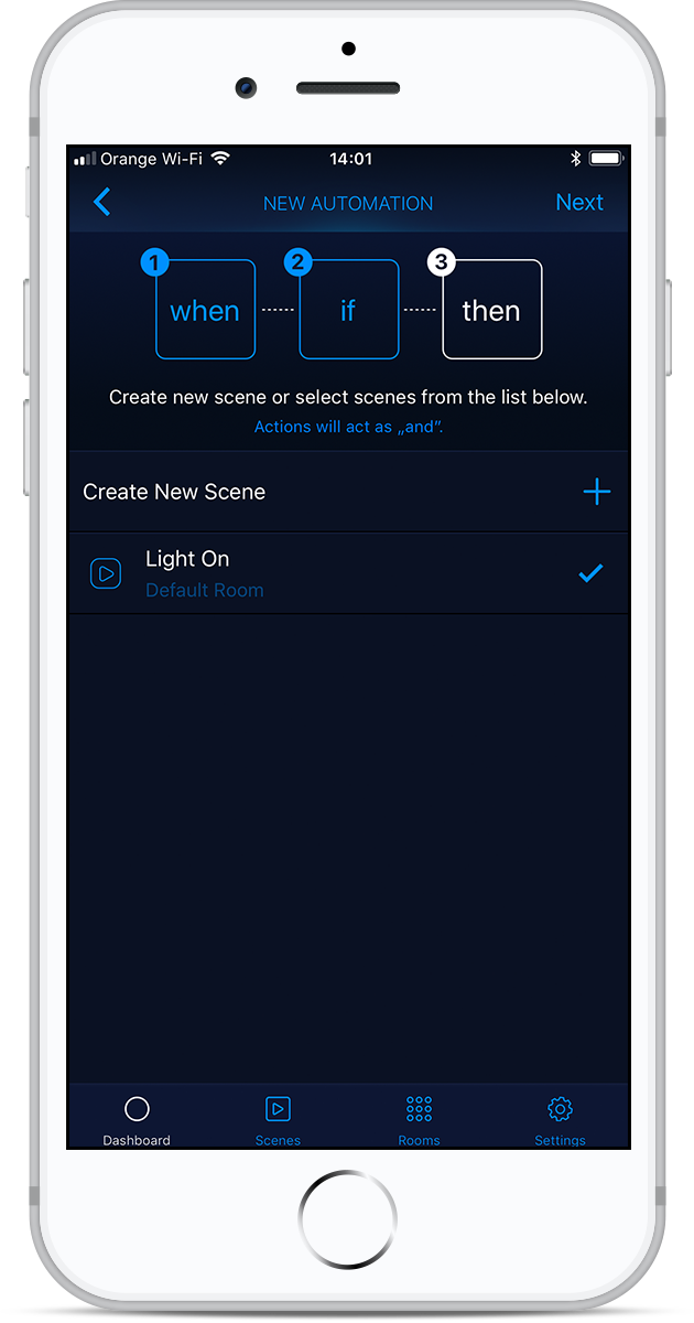 automatic lights HomeKit app
