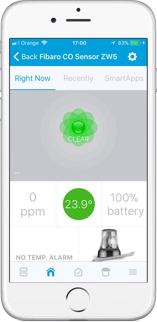 home automation carbon monoxide detector