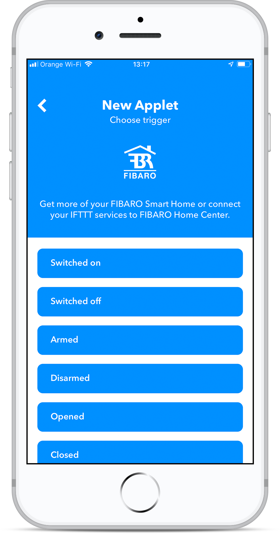 IFTTT: Get notified about water leakage | FIBARO Manuals