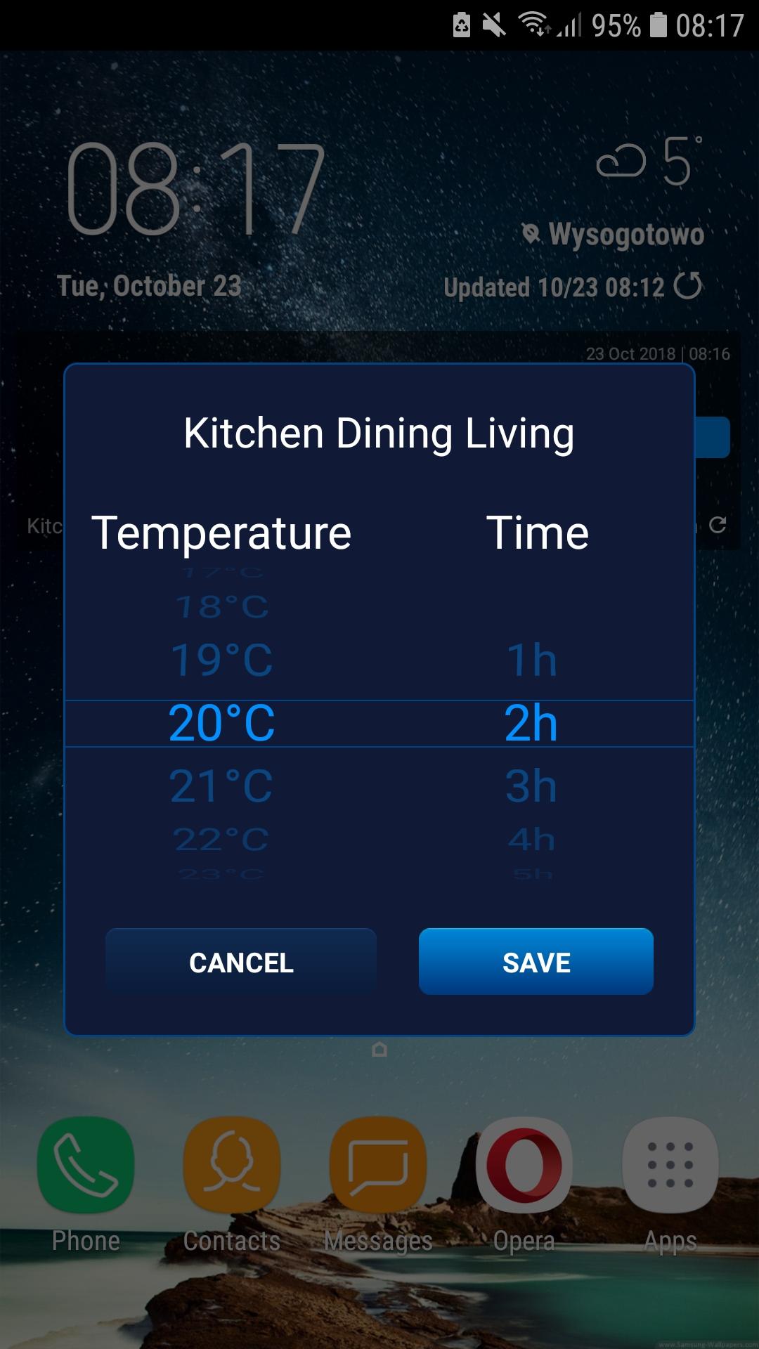 smart home widget